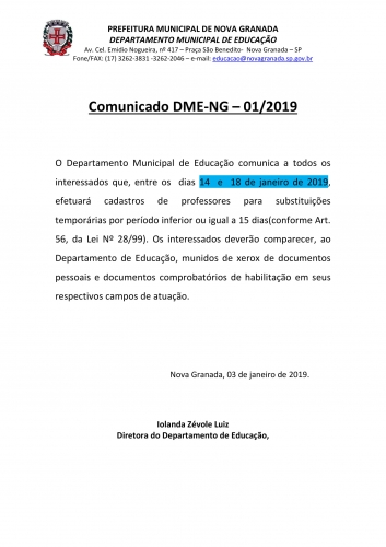 Noticia comunicado---012019