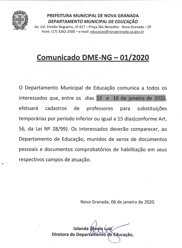 comunicado-do-departamento-de-educacao